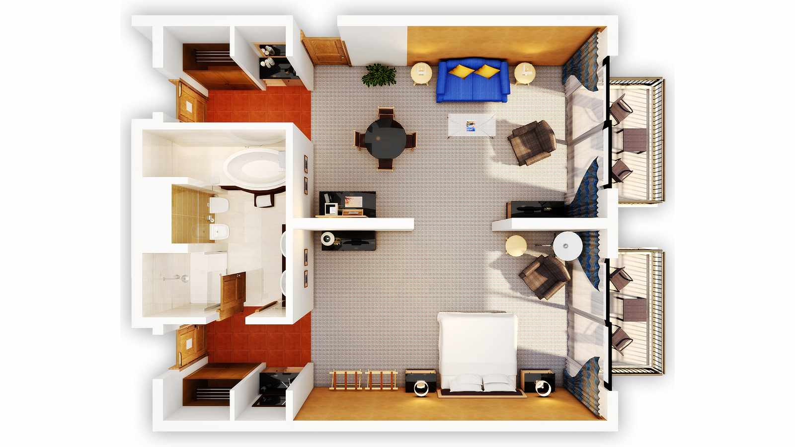 Floor Plan of the Executive Suites