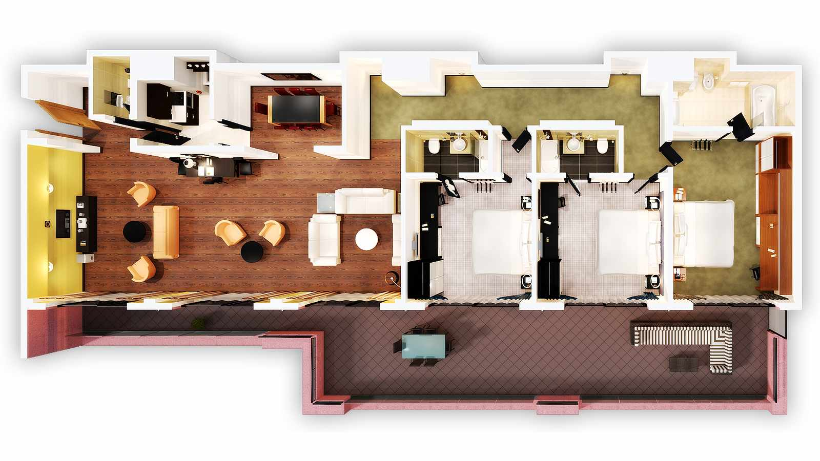 Floor plan of the presidential penthouse suite