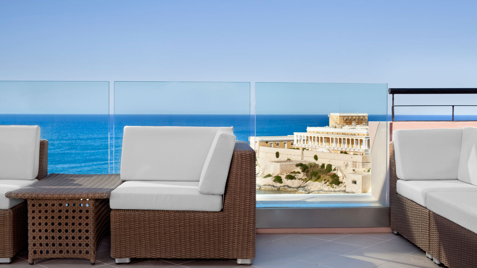 Beautiful sea views from the expansive terrace